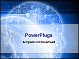 PowerPoint Template - image showing futuristic technology