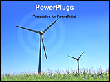 PowerPoint Template - image showing clean energy windmill