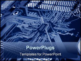 PowerPoint Template - a close up shot of a computer motherboard.