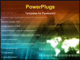 PowerPoint Template - Global Multimedia Technology in Tech Data Art