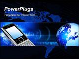 PowerPoint Template - Global communication technology Header regarding technology and communication.