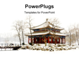 PowerPoint Template - Beijing old Summer Palace (Yuanming Yuan) in winter