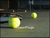 PowerPoint Template - Tennis Balls and Racket on the Court
