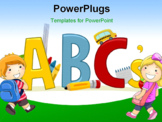 PowerPoint Template - Text Illustration Featuring Letters of the Alphabet - Learning ABCs