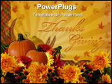 PowerPoint Template - mage and Illustration composition for Autumn, Fall, Halloween or Thanksgiving invitation, border or