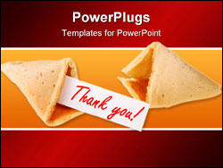 PowerPoint Template - backlit fortune cookie isolated over white background
