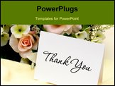 PowerPoint Template - A bouquet of flowers with a thank you card thank you card