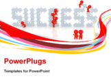 PowerPoint Template - 3D people around the word success isolated over a white background