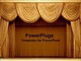 PowerPoint Template - Gold theater curtains