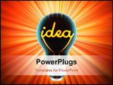 PowerPoint Template - bulb, which represents the birth of the idea made in 3D