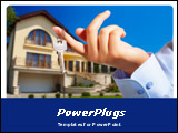 PowerPoint Template - his template, showing a man holding a house key and house at the background will be a good choce fo