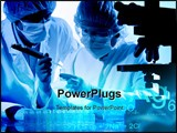 PowerPoint Template - a group scientists working at the laboratory