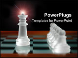PowerPoint Template - close up of chess pieces