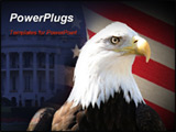 PowerPoint Template - Bald eagle over flag