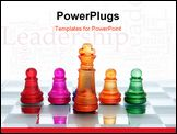 PowerPoint Template - A game of chess comes to an end. The king is checkmated