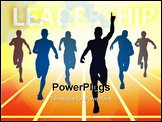 PowerPoint Template - Editable vector illustration of men finishing a sprint race