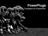 PowerPoint Template - The front line of football team
