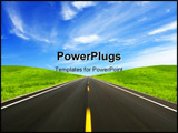 PowerPoint Template - The high speed autobahn with blurred motion