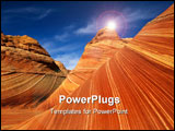 PowerPoint Template - Red rocks of Pariah canyon in Utah Southwest USA