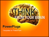 PowerPoint Template - A conceptual about intellect featuring a brain.