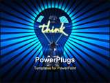 PowerPoint Template - Fun 3d generated Light bulb, ideal for ideas or being green