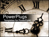 PowerPoint Template - old clock