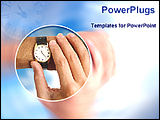 PowerPoint Template - person watching time