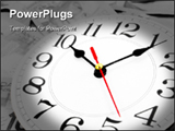 PowerPoint Template - Wall clock and canadian clock