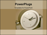 PowerPoint Template - Clock face with a few scratches