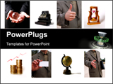 PowerPoint Template - Collage of business elements
