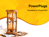 PowerPoint Template - Old hourglass (made in India XIX century) with euros