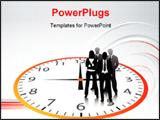 PowerPoint Template - Vector illustration of business people... world biz