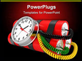 PowerPoint Template - time bomb with dynamite and timer on white background