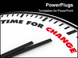 PowerPoint Template - White clock with words Time for Change on its face