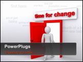 PowerPoint Template - time for changes, new achievements, door to the new life