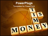 PowerPoint Template - 3d golden boxes with text - time is money