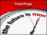 PowerPoint Template - An ornate clock with the words The Future is Now on its face