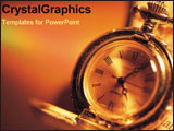 PowerPoint Template - Gold watch ticking.