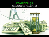 PowerPoint Template - The more time the more money. 3d illustration