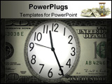 PowerPoint Template - close up shot of a clock in 100 American dollar