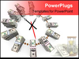 PowerPoint Template - The relationship between time and money Conceptual illustration