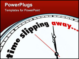 PowerPoint Template - An ornate clock with the words Time Slipping Away on its face