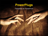 PowerPoint Template - Two Hands reaching out for each other.