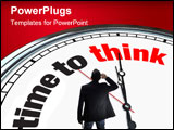 PowerPoint Template - An ornate clock with the words Time to Think on its face
