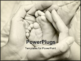 PowerPoint Template - Mother holding her childs feet b&w shot