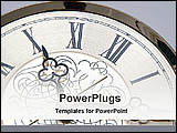 PowerPoint Template - image of a wall clock
