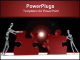 PowerPoint Template - Working Together High quality and resolution 3d image