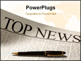 PowerPoint Template - top news headline on a newspaper page. sepia colors