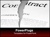 PowerPoint Template - torn up contract