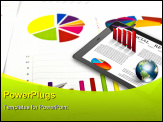 PowerPoint Template - Touch pad and financial Graphs (Elements of this image furnished by NASA)
